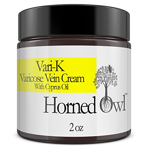 Spider Vein Cream treatment for Legs Vari-K Vitamin K Concentrated Helps in removal of Varicose Veins and Broken Capillary tears 2oz