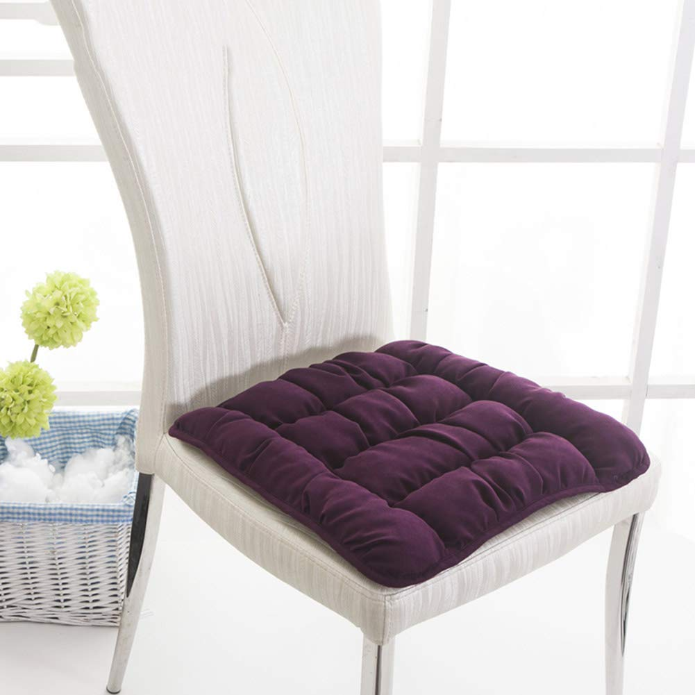 YQ WHJB Nonslip Chair Cushion,Seat Cushions Dining Chairs,Thicken Soft Trapezoidal Table Home Universal Chair Pad-purple 38x42x45cm(15x17x18inch)