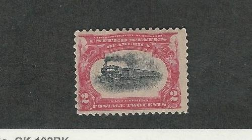United States, Postage Stamp, #295 Mint Hinged, 1901 Train (Train Mint Stamps)
