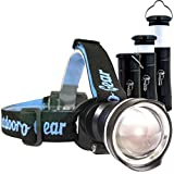 LED Headlamp - Camping Lantern & Flashlight - The Best & Only Camping Hiking Backpacking Outdoors Set You'll Ever Need. Super Bright 1000 Lumen Headlight. Flashlight Telescopes Into Tent Light (BLACK)