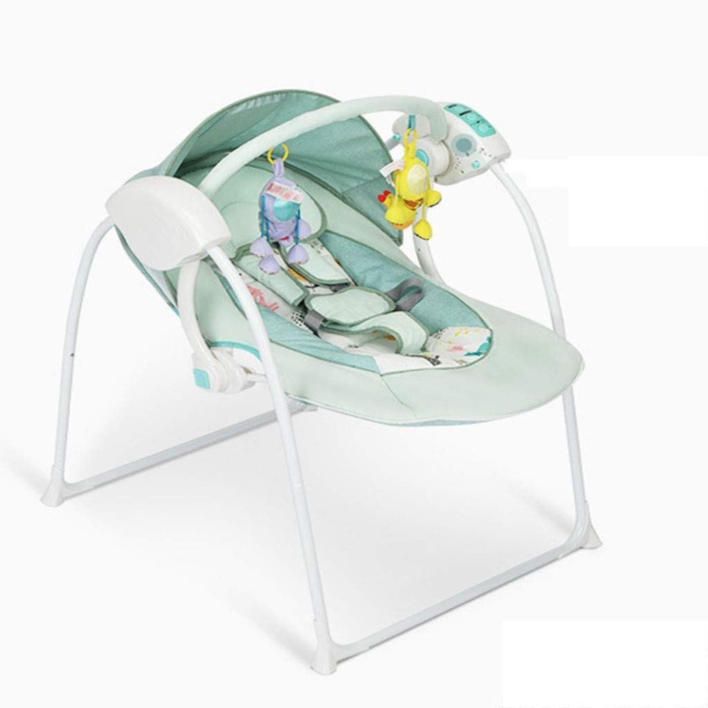RENKUNDE Baby Electric Rocking Chair, Multi-Function Folding Comfortable Chair, Intelligent Remote Control Timing Adjustment Dual Power Cradle Bed Baby Rocking Chair by RENKUNDE