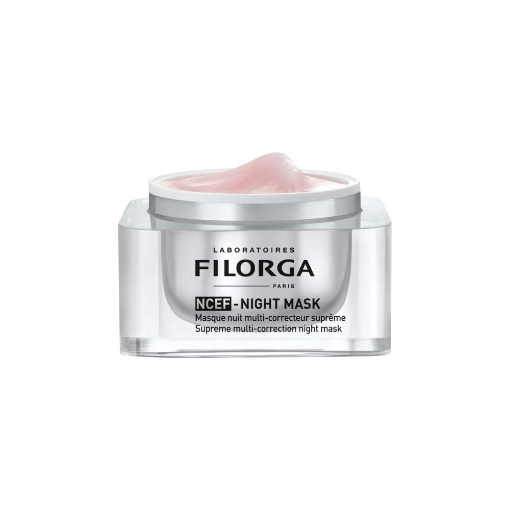 Filorga NCEF-Night Mask Supreme Multi-Correction Concentrated Night Cream for Wrinkles Firmness Radiance, All Skin Types, 1.69 fl oz