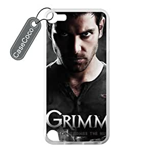 CASECOCO(TM) iPod Touch 5 Case, Favorite US TV Grimm Case for iPod Touch 5 - 100% Protective Soft Rubber White Case