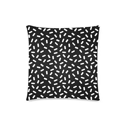 Custom Bingo Black And White Cushion Cases Zippered Throw Pillow Covers 18 by 18 Inches]()