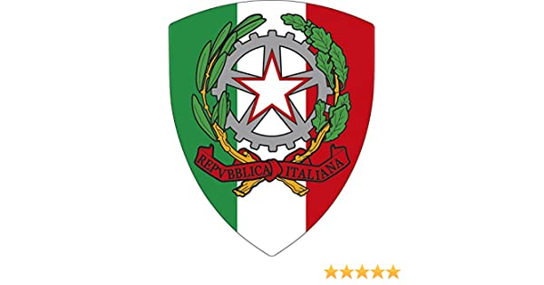 Artimagen Pegatina Escudo Italia Pico 40x60 mm.