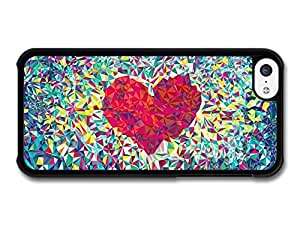 MMZ DIY PHONE CASENew Colourful Heart Design, Cool Pattern Style case for ipod touch 5