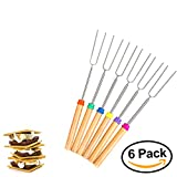 Axe Sickle Luxury Extendable Marshmallow Roasting Sticks, For BBQ, Camping, Bonfire & Campfire Cooking, Telescoping Hotdog Forks, 6 Set, Long Rotating, Barbecue Skewers, Smores Sticks best for Kids. Review