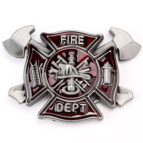 Axe Ladder Fire Dept Vintage Fire Fighter Department Mechanic Men Belt Buckle Lot Metal Occupational (Firefighter Ladder Belt)
