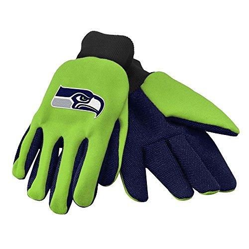 Reebok Football Glove - NFL Seattle Seahawks Winter Gloves - Large