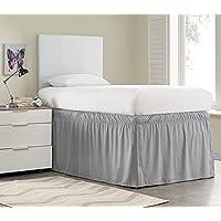 Ruffled Dorm Sized Bed Skirt - Alloy
