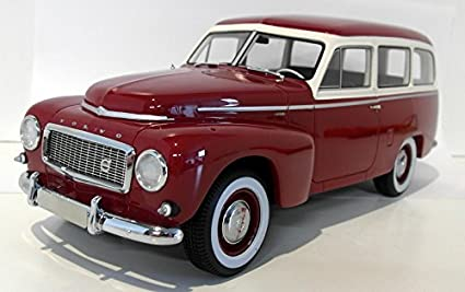 Amazon Com Volvo Pv445 Duett Dark Red Beige 1956 Model Car