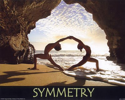 Amazon.com: Symmetry by Kyer Wiltshire-Yoga Poster- 16x20 ...