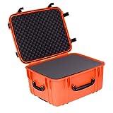 Seahorse 1220 Protective Wheeled Case w/Foam, Neon Orange