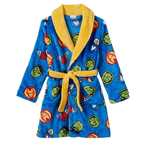 MARVEL Boy's Size 6 Avengers Hulk, Ironman, Cpt. America Fleece Bathrobe