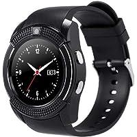 Flytoasky V8 Smart Wireless Watch Smartwatch Pantalla táctil con cámara Ranura para Tarjeta SIM Negro