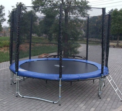 Exacme 10FTCombo  Trampoline with Safety Pad & Enclosure Net All-in-One Combo Set, 10'