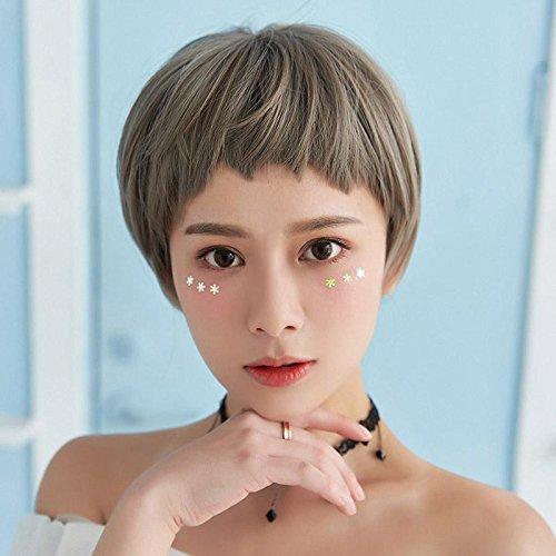women girls female dogs and promotional wig bangs short hair wig on irregular secondary yuan short bangs grandmother gray eyebrows