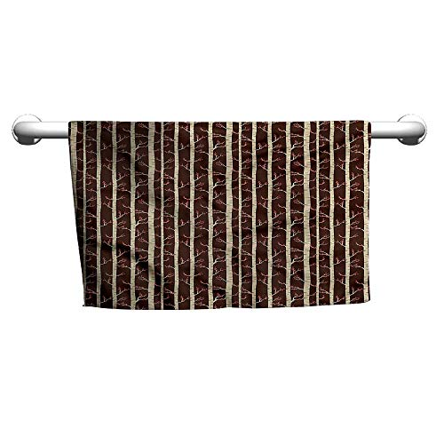 (Flowered Forest,Birch Trees in Autumn,Towel Shelf for Bathroom)