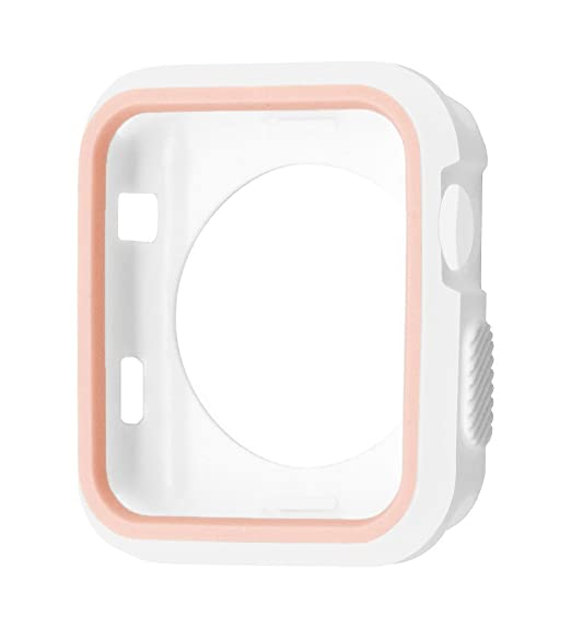 on sale 4f417 f685e Joydeal Apple Watch Case 38mm, iPhone Watch Shock-proof Silicone Case Full  Body Protective Bumper Cover for 38mm Apple Watch Series 3/Series 2/Series  ...