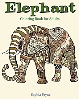 Elephants: An Adult Coloring Book Featuring Over 30 Elegant Designs ...