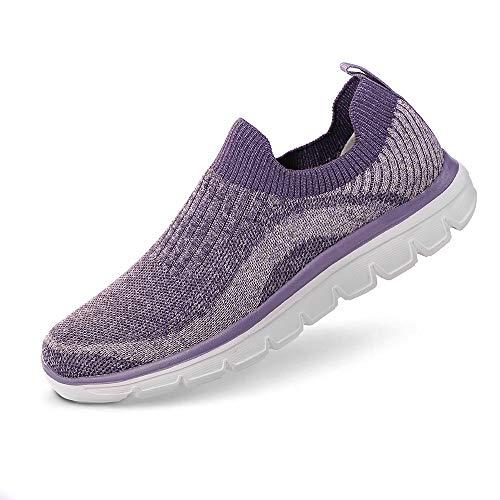 - AnTuoBsc Women Running Shoes Casual Sports Non Slip Walking Sneakers Purple