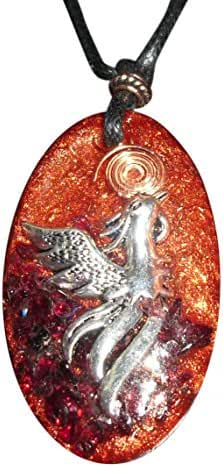 Phoenix Rising Orgone Pendant - bird of new beginnings
