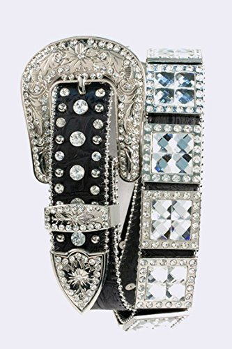 Karmas Canvas Crystal Fashion Belt