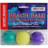 Sport Design Replacement Beach Balls for Beachball Smashball Kadima Watercolors (Set of three balls in Assorted colors )