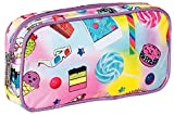 iscream 'Funky Flair' 8.5'' x 4.5'' Bold Print Zippered Cosmetic Bag