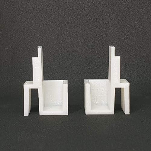 Juego de 4 pares de guías para armario Form Optimum con puertas correderas: Amazon.es: Bricolaje y herramientas