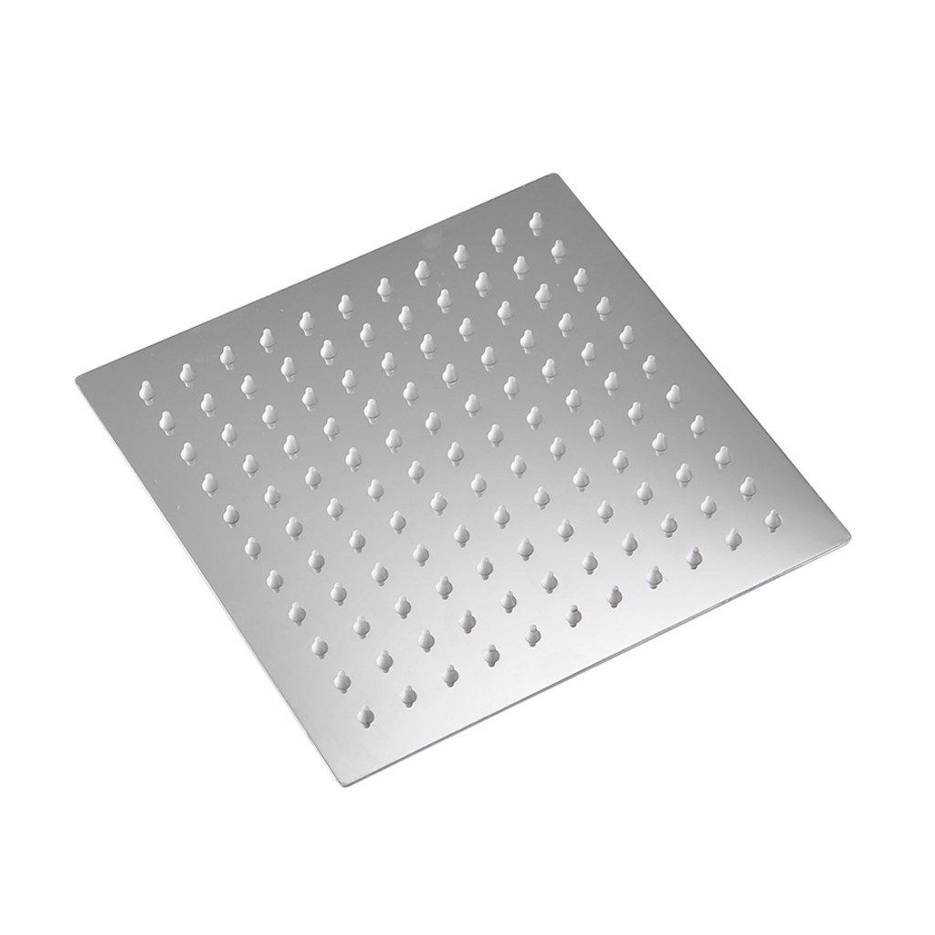 AMINSHAP Duschkopf Platz Badezimmer Heizung Druck Duschkopf Mehrere Größen Pakete können 304 Edelstahl (Farbe   Package 2, Größe   25cm)