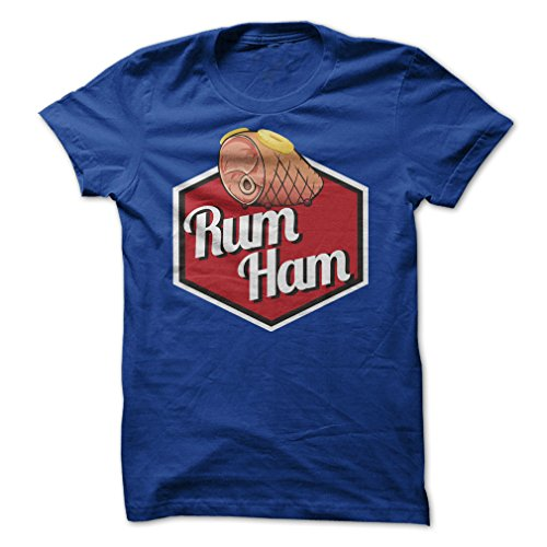 Rum Ham-T-Shirt/Royal Blue/L - Made On Demand in USA ()