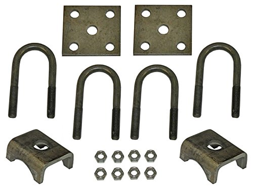 Rigid Hitch U-Bolt Mounting Kit for 2,200 lb Trailer Axles with 1-3/4 Inch Round Tube Diameter