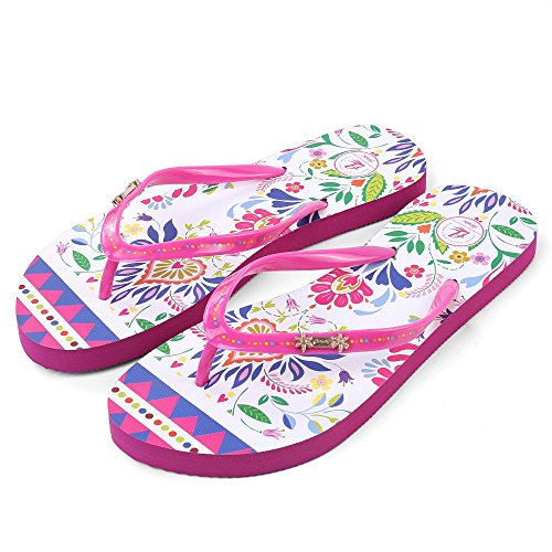 Womens Stylish Sandy Sandal Floral Print Flip Flop