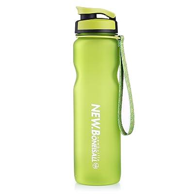 Beyonda Fmgybl0571000ml sans BPA Bouteille d'eau portable avec Qualité alimentaire PP Passoire et anti-fuite Couvercle à rabat pour course à pied, cyclisme, le yoga, le