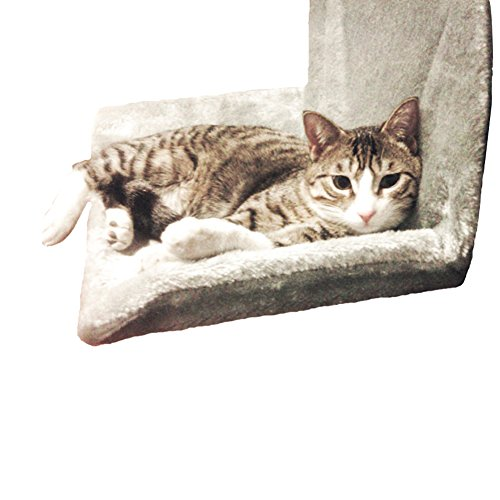 OLESTAR Cat Hammock Radiator Bed Portable Comfortable Hanging Cradle Crib (Grey)