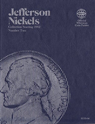 1962-DATE JEFFERSON NICKEL + 20th CENTURY LIBERTY NICKELS TRI-FOLD Whitman No 9039-14 ALBUM BOOK FOLDER