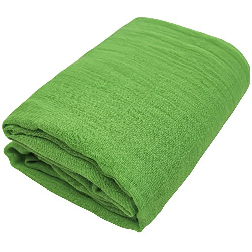 TiaoBug Newborn Baby Cheesecloth Wrap Cloth Blanket Photography Photo Props (Green, One Size)