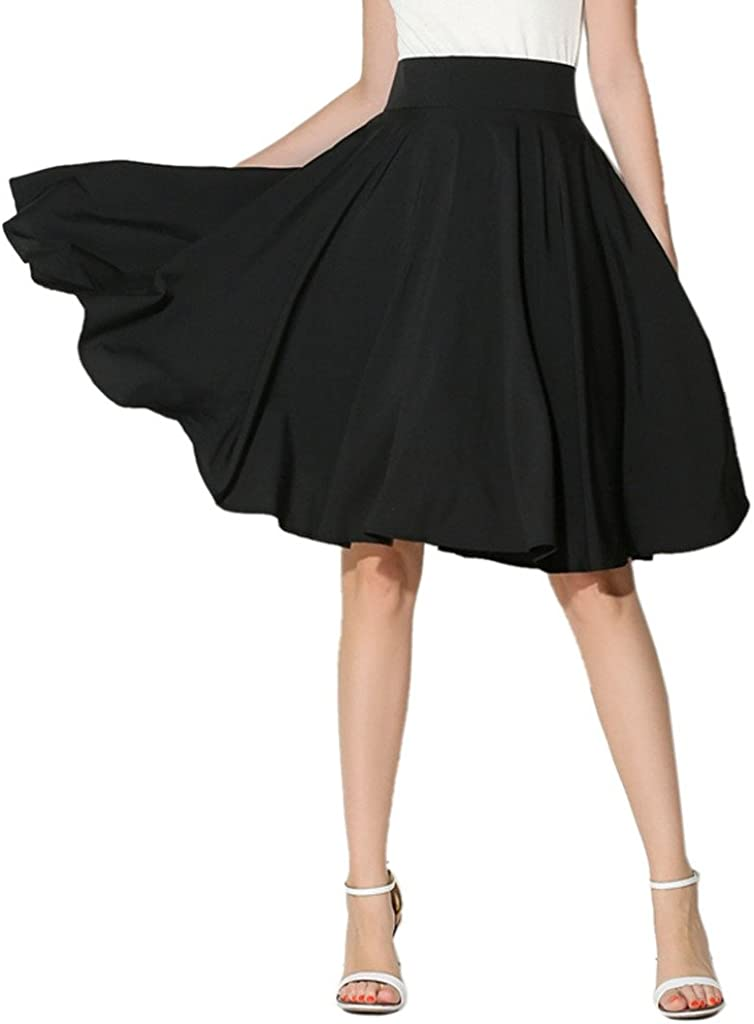 CHOiES record your inspired fashion Women's Pink/BlackBlue/White Solid High Waist Trumpet Midi Skirt (10 Colors) 51NA9us7QIL