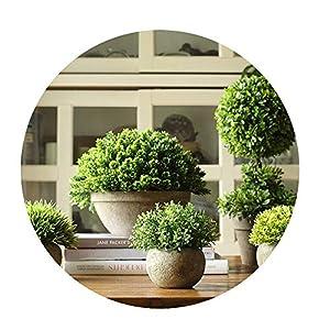 Sevem-D New Simulation Tree Bonsai Coffee Green Succulents Planting Pot Flower Grass Desktop Table Ornament Decoration 14