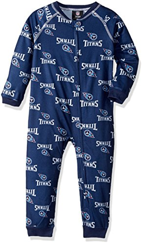 Youth Micro Poly Pant - NFL Toddler Zip Up Coverall-Dark Navy-3T, Tennessee Titans