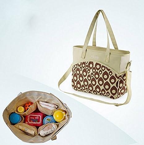 Amazon.com : bolso maternal mensajero diaper bag multifunctional baby feeding bottle bag bolso viaje bebe STMMB001 : Baby