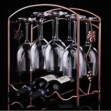AMAZZANG-NEW Wine Glass Rack Hanging Upside Down Cup Holder Hanging Goblets Wine Rack (as picture)