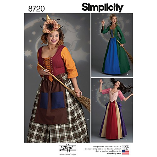 Simplicity 8720 Women's Fairy Tale Witch Costume Sewing Pattern, Sizes 16-24