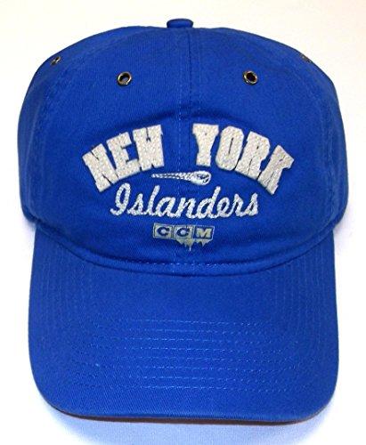 Ccm Vintage Cap - New York Islanders Vintage Hockey CCM Slouch Strap Back HAT - Osfa - ER09Z