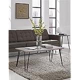 Altra Owen Retro Coffee Table, Sonoma Oak/Gunmetal Gray
