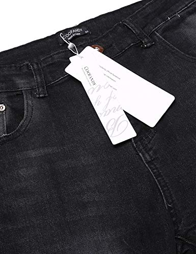 Silm Casual Ragazzi Bandage 36 Multi Pantaloni Con tinta Unita Size Fit Strech Uomo Jeans e color Classiche Black wx7BtqX04n