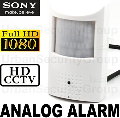 USG 2MP 1080P 30FPS Hidden Spy Security Camera Analog ALARM PIR Sensor 3.7mm Wide Angle Lens, Sony IMX323, WDR, Motion Detector Housing HD-TVI, HD-CVI, AHD, Analog, Set Format Via Dip Switches