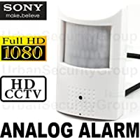 USG 2MP 1080P @ 30FPS Hidden Spy Security Camera : Analog ALARM PIR Sensor : 3.7mm Wide Angle Lens, Sony IMX323, WDR, D-Zoom, IR Cut Filter, AWB, AGC, BLC, Motion Detector Housing