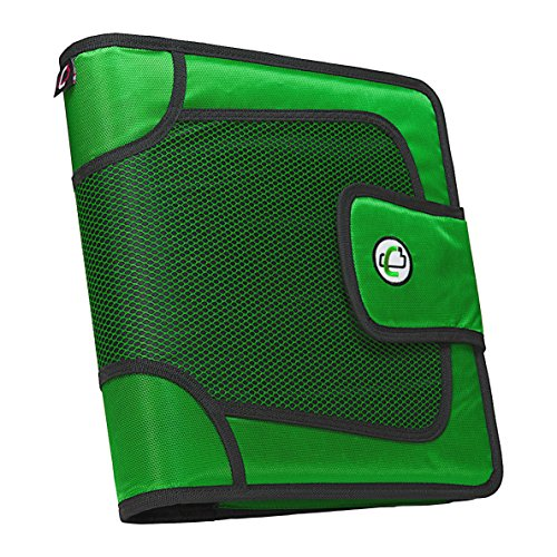Green Flash Velcro - Case-it Open Tab Velcro Closure 2-Inch Binder with Tab File, Green, S-816-GRE-18